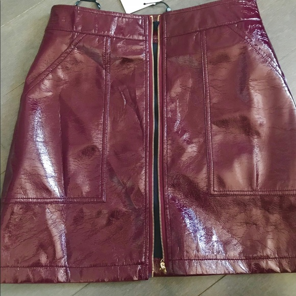 Missguided faux leather zip up skirt BNWT